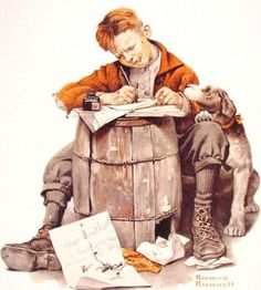 Little Boy Writing A Letter - Love Letters