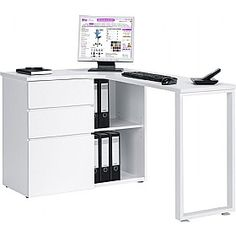 Moderno Computer Desk White  www.officefurnitureonline.co.uk