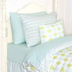 Jersey Twin Sheet Set in Mini Dot Blue by RR Sale. $151.00. Rosenberry Rooms
