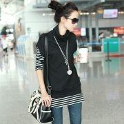 2013 nuevos modelos femeninos de primavera Loose Women ropa versión coreana de la afluencia de cuello alto suéter