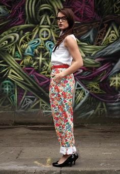 Floral trousers  £35