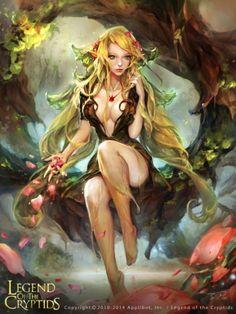 Mais belas mulheres nas ilustrações de fantasia para games de Zinna Du