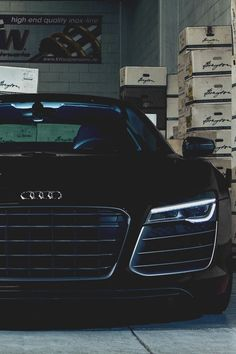 Audi R8 .....this is what I want Daddy! Seriously! :) I suppose I better say Please huh? Please! Black on Black and Stick shift!