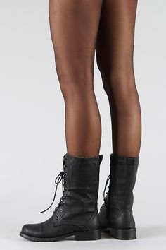 LUG-11 Lace up Mid Calf Military Combat Boot
