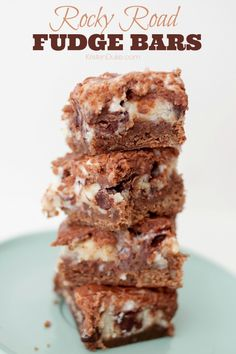 Rocky Road Fudge Bars Recipe - you're sure to love this sweet treat dessert! KristenDuke.com