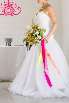 Chic Modern Neon Wedding Ideas via TheELD.com