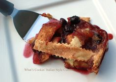 What's Cookin' Italian Style Cuisine: Apple Blueberry Deep Dish Pie Recipe