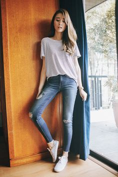 Get this look: http://lb.nu/look/7611042  More looks by Tricia Gosingtian: http://lb.nu/tgosingtian  Items in this look:  Mango Top, Mango Pants, H&M Sneakers   #casual #classic #minimal