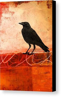 Raven Watching Canvas Prints by Nancy Merkle