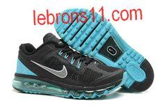 Mens Nike Air Max+ 2013 Black Grey Aqua Shoes