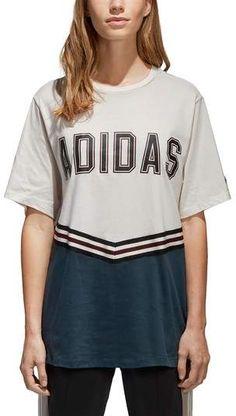 4e485cbb8c90c adidas Originals Cotton Relaxed Collegiate T-Shirt - White XXS