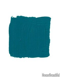 Front Door Paint Colors - Paint Ideas for Front Doors - House Beautiful-- Benjamin Moore Venezuelan Sea which is a bright teal.