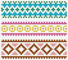 Crochet Borders Borders - Free cross-stitch design 'Borders', 53 x 47 stitches 6 colors Cat Cross Stitches, Cross Stitch Borders, Crochet Borders, Cross Stitch Flowers, Cross Stitch Designs, Cross Stitching, Cross Stitch Embroidery, Cross Stitch Patterns, Tapestry Crochet Patterns