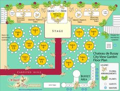 Wedding Reception Floor and Table Plan: Garden