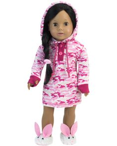 """Doll Clothes 18/"""" Robe Pajamas Slippers Leopard Fits American Girl Dolls"""