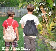 blueSusan makes: Soccer Mom: Drawstring Back Pack Tutorial