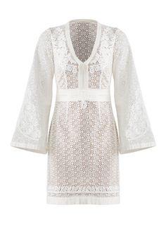 9fd8d60df90d8 White Cotton Lace Dress by The Kooples White Cotton