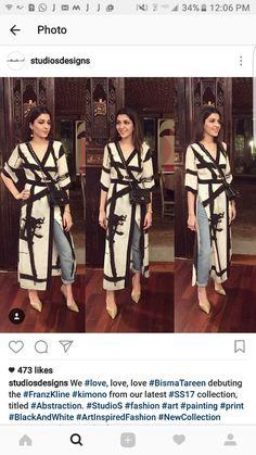 Favorite Simple Pakistani Dresses, Indian Dresses, Indian Outfits, Designer Punjabi Suits, Indian Designer Wear, Kurta Designs, Blouse Designs, Indian Fashion, Love Fashion