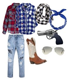 """Cowgirl"" by lord-of-swagger on Polyvore featuring Silver Jeans Co., Rails, Ariat and Ray-Ban"