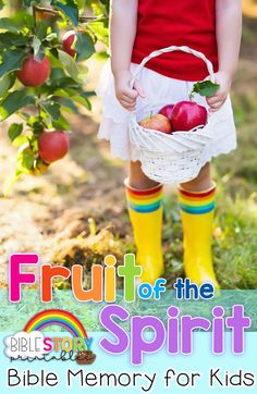 Fruits of the Spirit Bible Verses for Kids Bible Verse List, Bible Verses For Kids, Fruits For Kids, Overcome The World, Fruit Of The Spirit, Best Fruits, Bible Stories, Lessons For Kids, Holy Spirit
