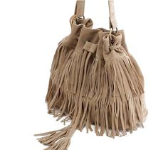 Retro Style Women's Crossbody Bag With Tassels and Suede Design (BROWN) | Sammydress.com