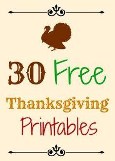 30 Free Thanksgiving Printables - The Suburban Mom