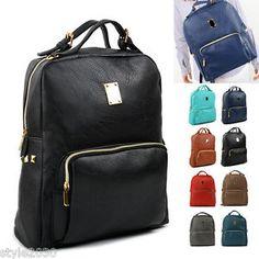 Womens Bookbag Laptop Bag School Backpack Satchel Rucksack Travel Bag NEW
