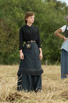 Bathsheba Everdene - Carey Mulligan in Far from the Madding Crowd, set in Victorian England (2015).