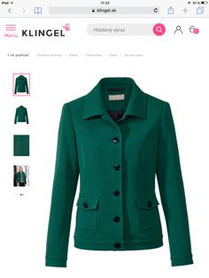 This nice blazer you can buy on Klingel.sk. Toto pekné tmavozelené sako kúpite online na klingel.sk