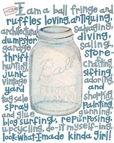 Is there anything better than ball jars? I don't think so. Cool Stuff, Random Stuff, Mason Jar Crafts, Mason Jars, Glass Jars, Glass Containers, Pantone, Pots, Dumpster Diving