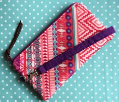 Custom wristlet with cash/card slots. My Etsy Shop, Sewing, Cards, Dressmaking, Maps, Sew, Stitching, Full Sew In, Costura