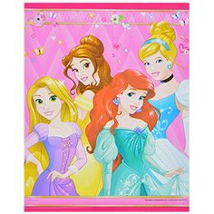 Disney® Princesses are here to celebrate your little girls' special day! The perfect ending to any great party, these takeaway goodie bags are royally decked out in all their favorite cartoon