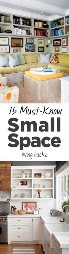 Home hacks, Organization tips, Popular Organization Ideas, Small Living Space, Small Home, Make the Most of your Small Space, Home Organization Tips, Organized Home