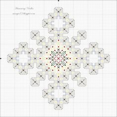 Snowflake Ornament Pattern - hardanger
