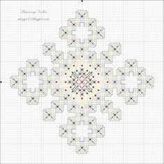 Snowflake Ornament Hardanger Pattern
