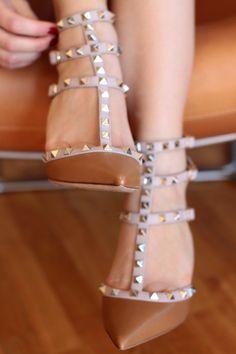 studded stilettos.