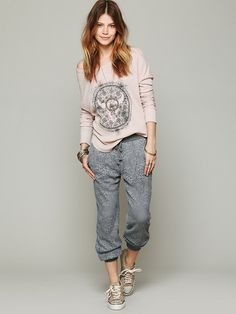 Free People Lace Pants at Free People Clothing Boutique