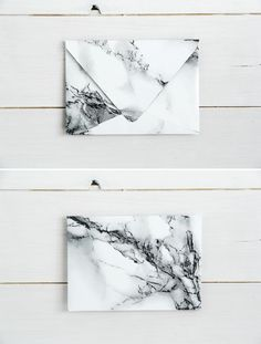 12 DIY Marble projects. DIY Marbled envelopes by @fallfordiy on Passion shake blog.