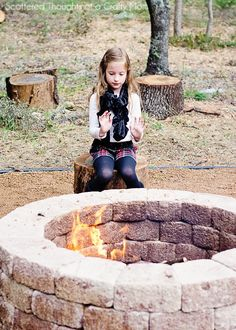 Simple DIY Outdoor Fire Pit - Scattered Thoughts of a Crafty Mom
