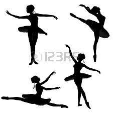 Siluetas de bailarinas de ballet  sueos e iluciones  Pinterest