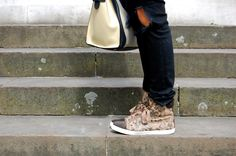 Lanvin leopard sneakers