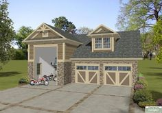 Plan 20128GA: Carriage House Apartment with RV Garage   Carriage ...