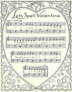 valentine - from a 1950s children's activity book - (and add some quilling to the corners.)