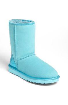 UGG® Australia 'Classic Short' Metallic Patent Boot (Women)   Nordstrom