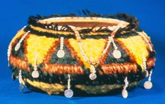 Pomo Basket from Northern California Native American Beading, Native American Indians, Native American Genocide, Native Americans, Bead Bottle, Indian Baskets, Blue Feather, Native Indian, Organic Shapes