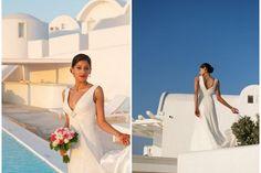 Real Wedding  Santorini wedding www.stellaandmoscha.com