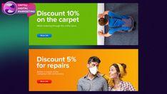 Banner Images, Promote Your Business, Web Banner, Social Media Design, Ad Design, Banner Design, Web Development, A Team, Digital Marketing