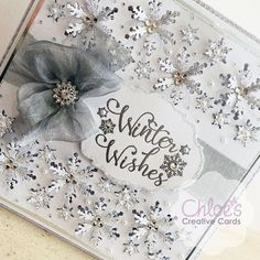 "Chloe Endean on Instagram: ""Good Morning! I am SO excited! This is your reminder that I will be LIVE on @createandcrafttv in one hour - 8am BST. Will you be joining…"" Chloes Creative Cards, Creative Christmas Cards, Xmas Cards, Christmas Tea, All Things Christmas, Christmas Themes, Christmas Crafts, Stamps By Chloe, Snowflake Cards"