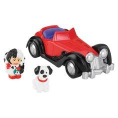 Super cute!! Fisher-Price Little People Disney 101 Dalmations Cruella de Vil Vehicle
