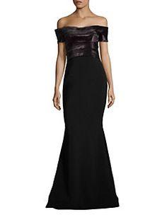 RENE RUIZ - Off-the-Shoulder Mermaid Gown